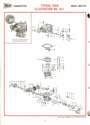 Holley 885FFG Exploded Diagrams  The Old Car Manual Project