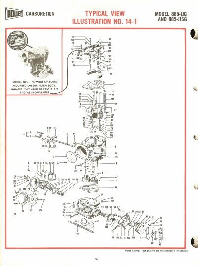 Holley 885jjg And 885jjsg Exploded Diagrams