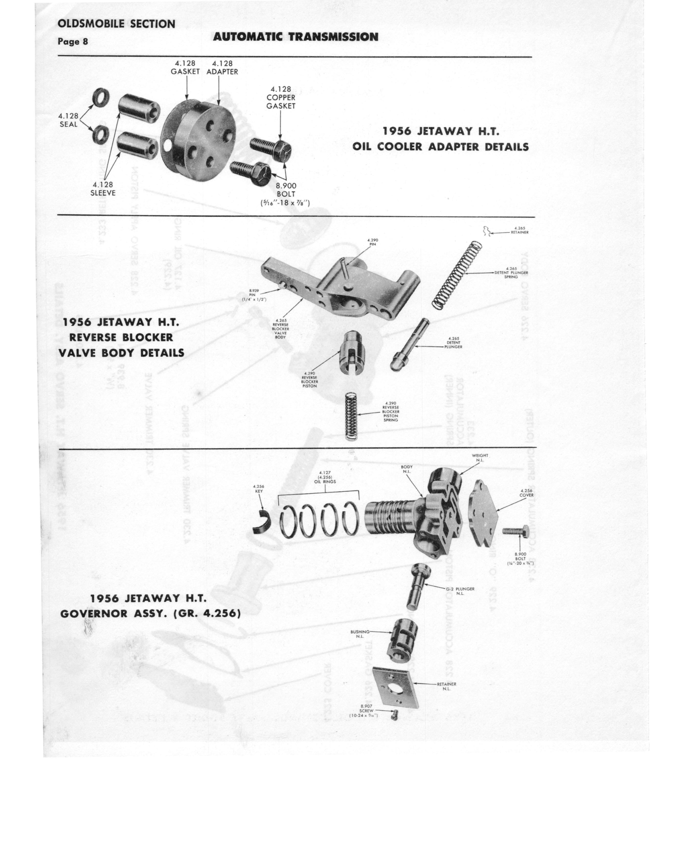 Gm Automatic Transmission Parts Catalog Supplement To A Page 38 Of 97