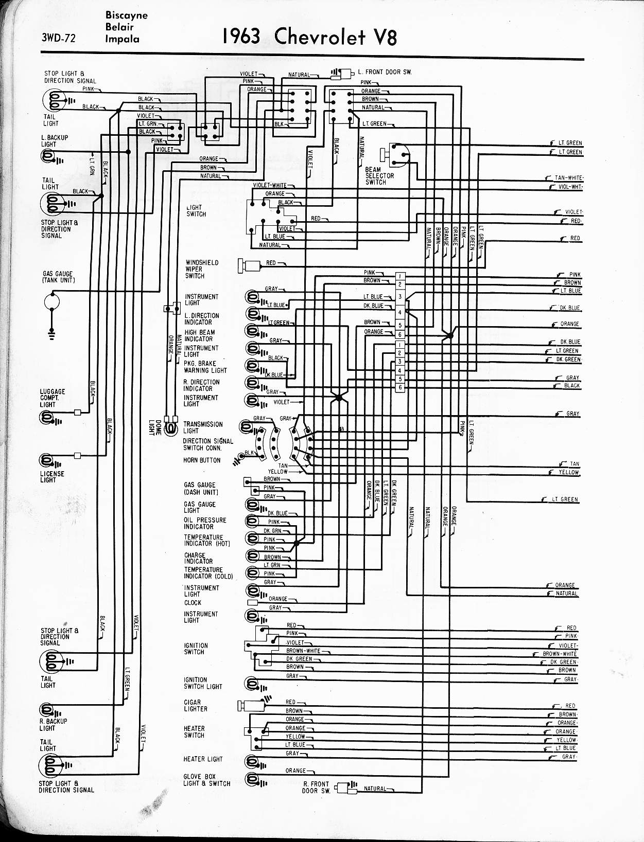 63 Corvette Free Wiring Diagrams Auto