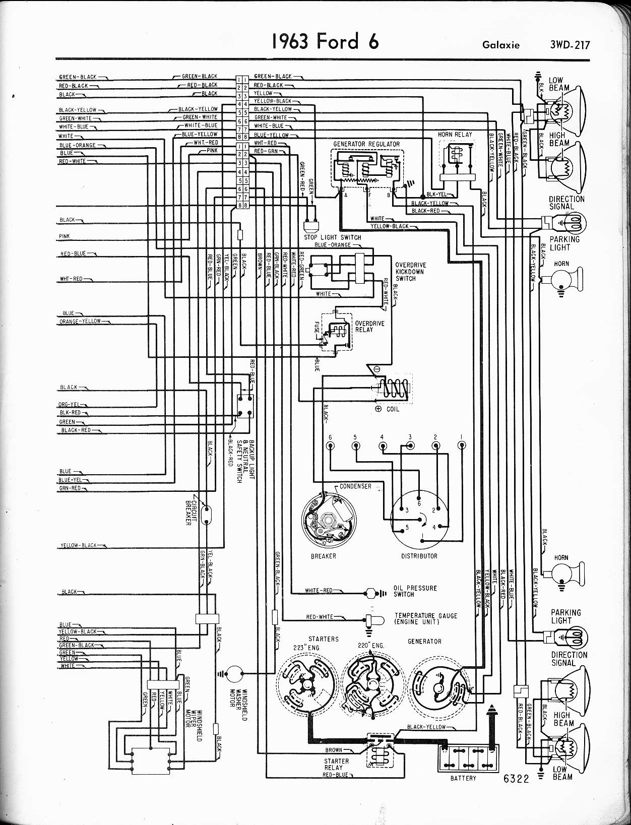 63 Fairlane Wiring Diagram Images Free Download 1963 Ford Falcon