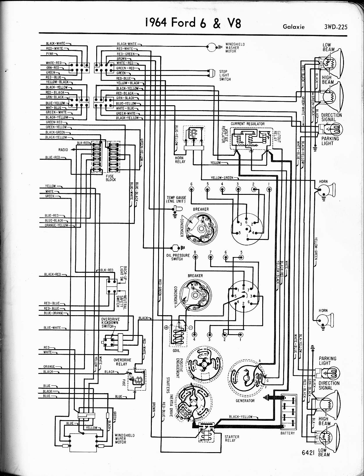 1965    Ford    Galaxie    500    Xl      Wiring       Diagram    Database