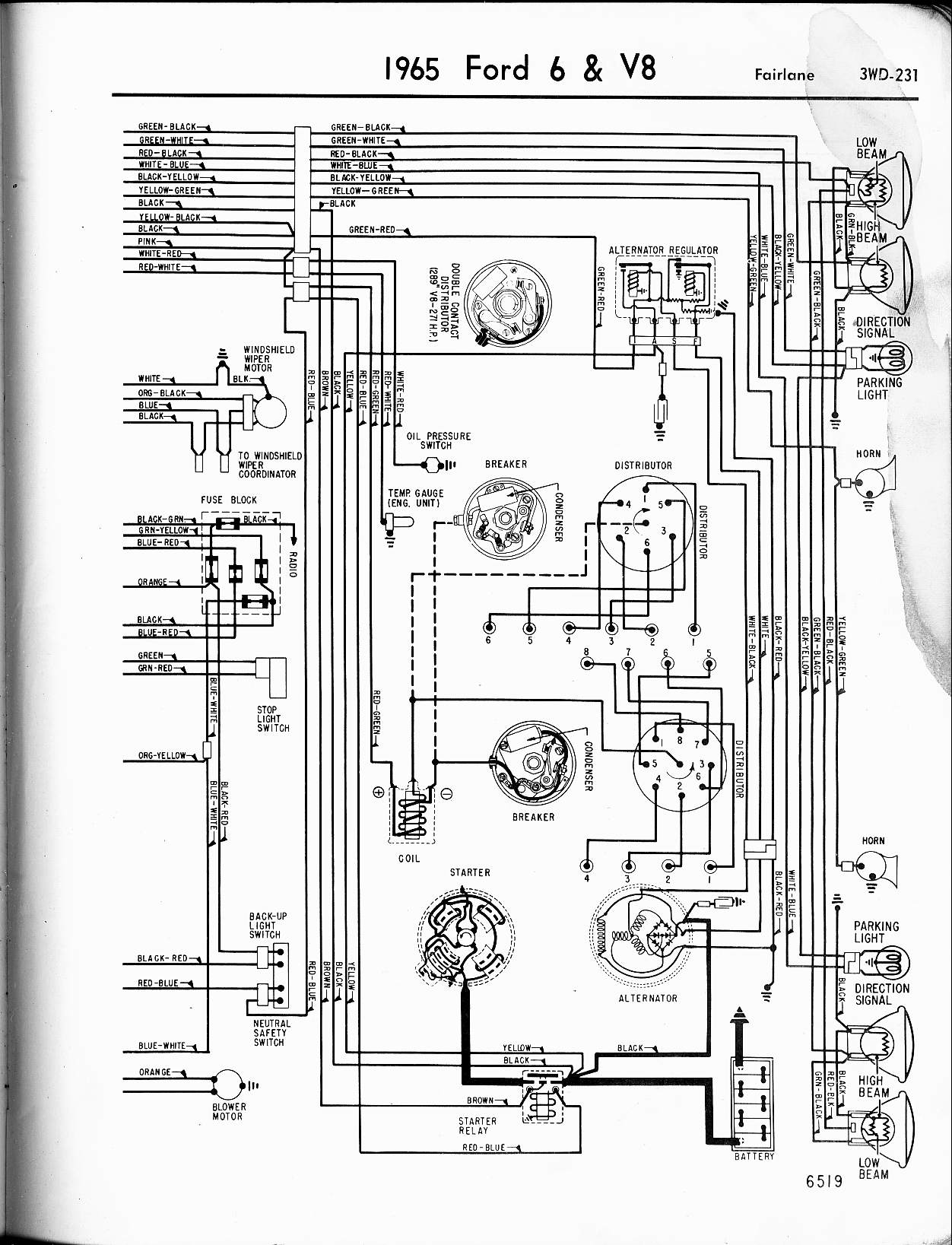 1968 Ford 2000 Farm Tractor Ignition Switch Wiring Diagram