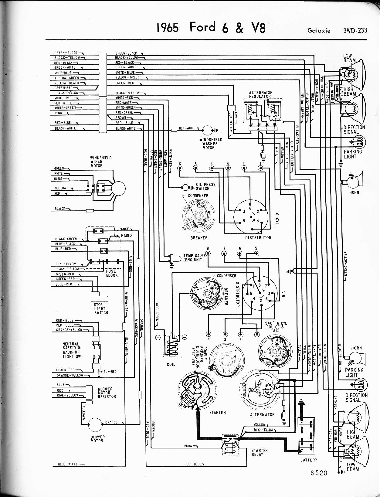 ford tail light wiring schematic