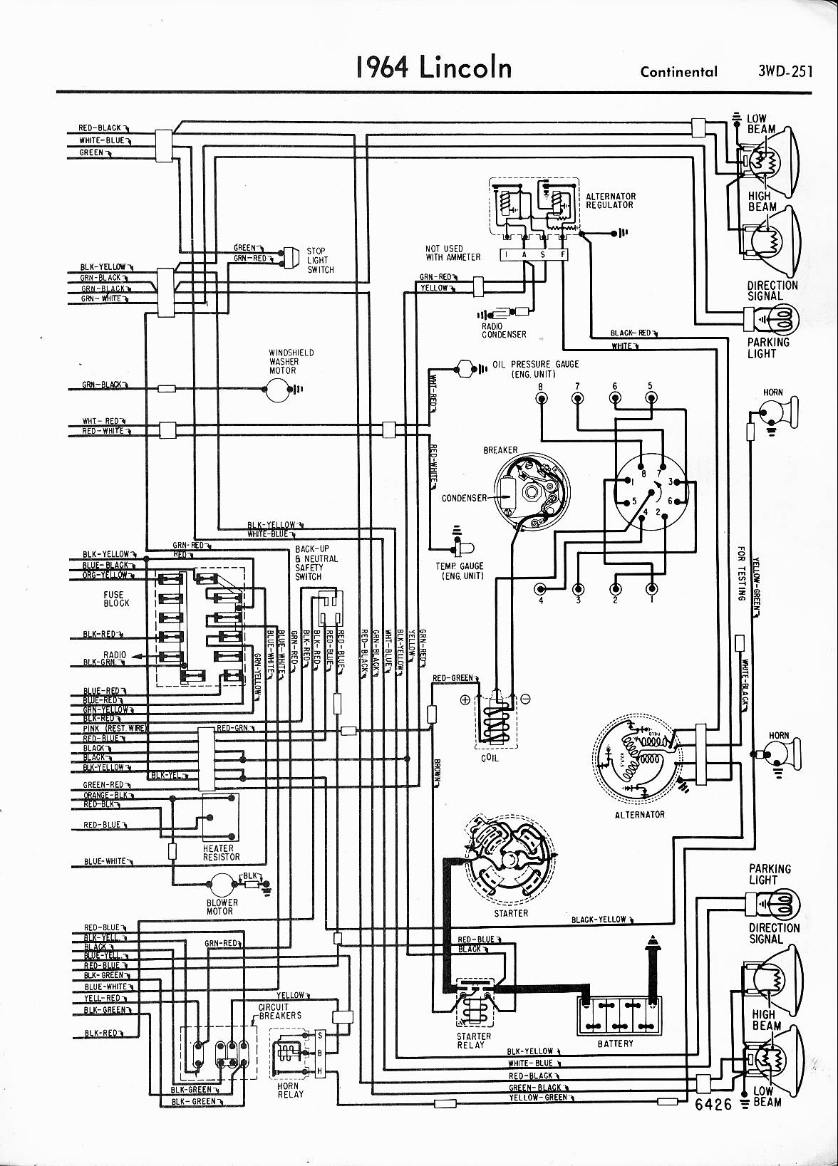 65 Lincoln Wiring Diagram