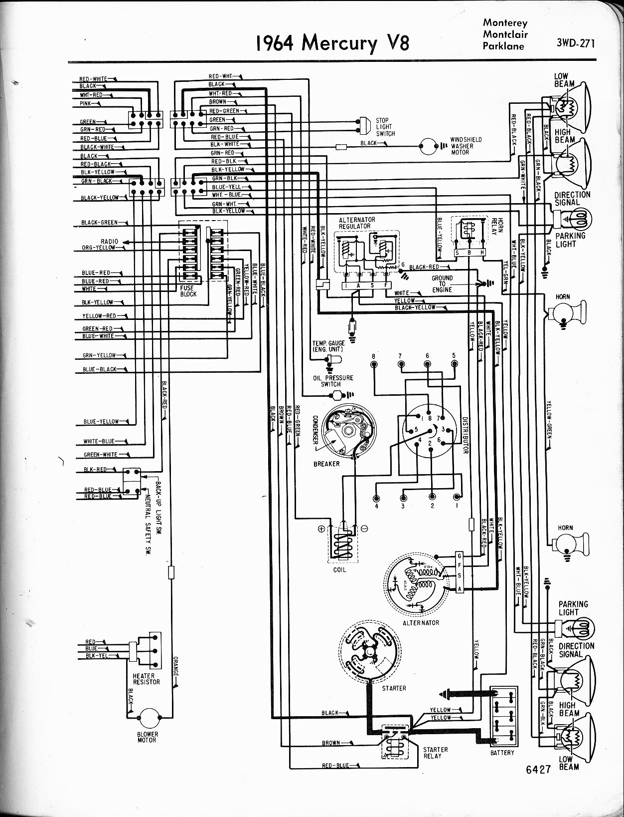 Mercury Outboard Ignition Switch Diagram Color Coded