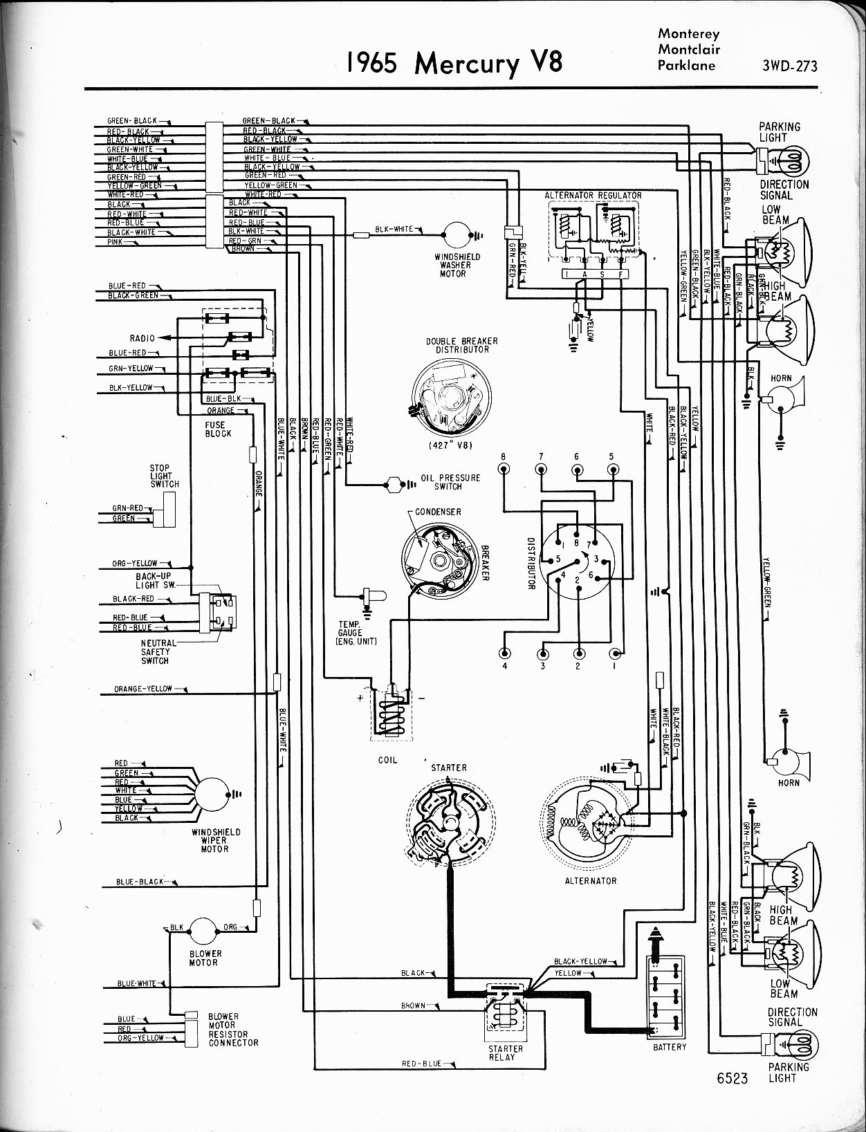 67 Cougar Schematic