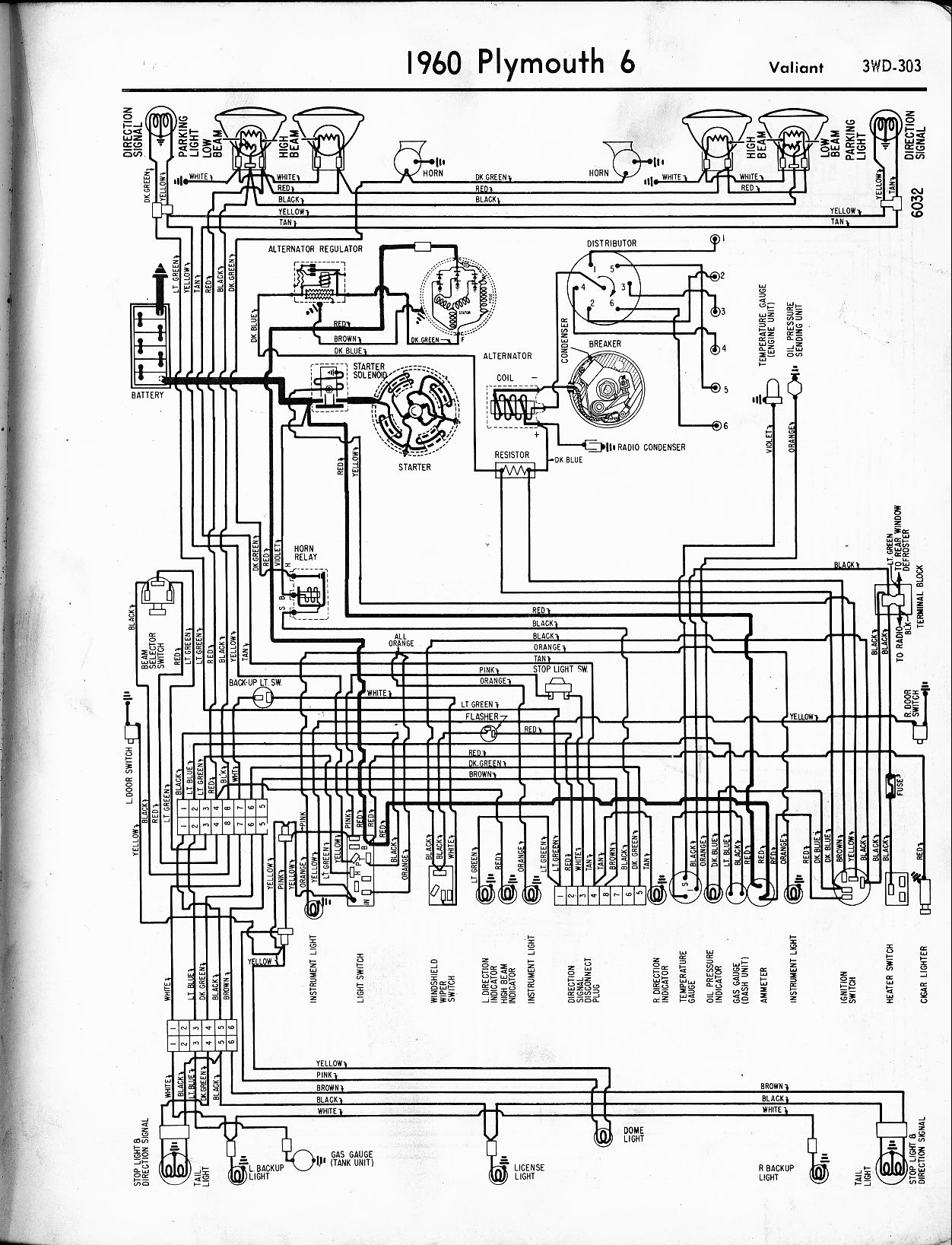 plymouth fury wiring diagram