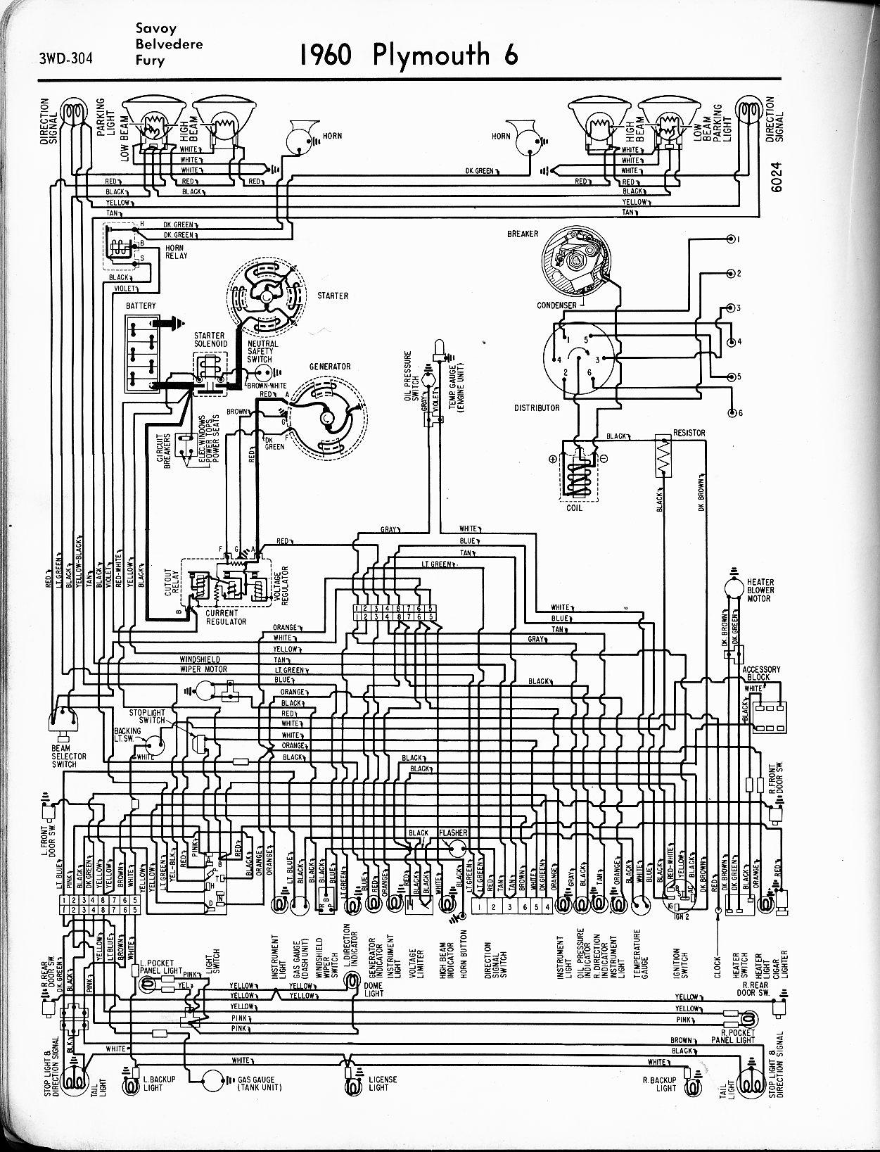 Plymouth Fury Wiring Diagram
