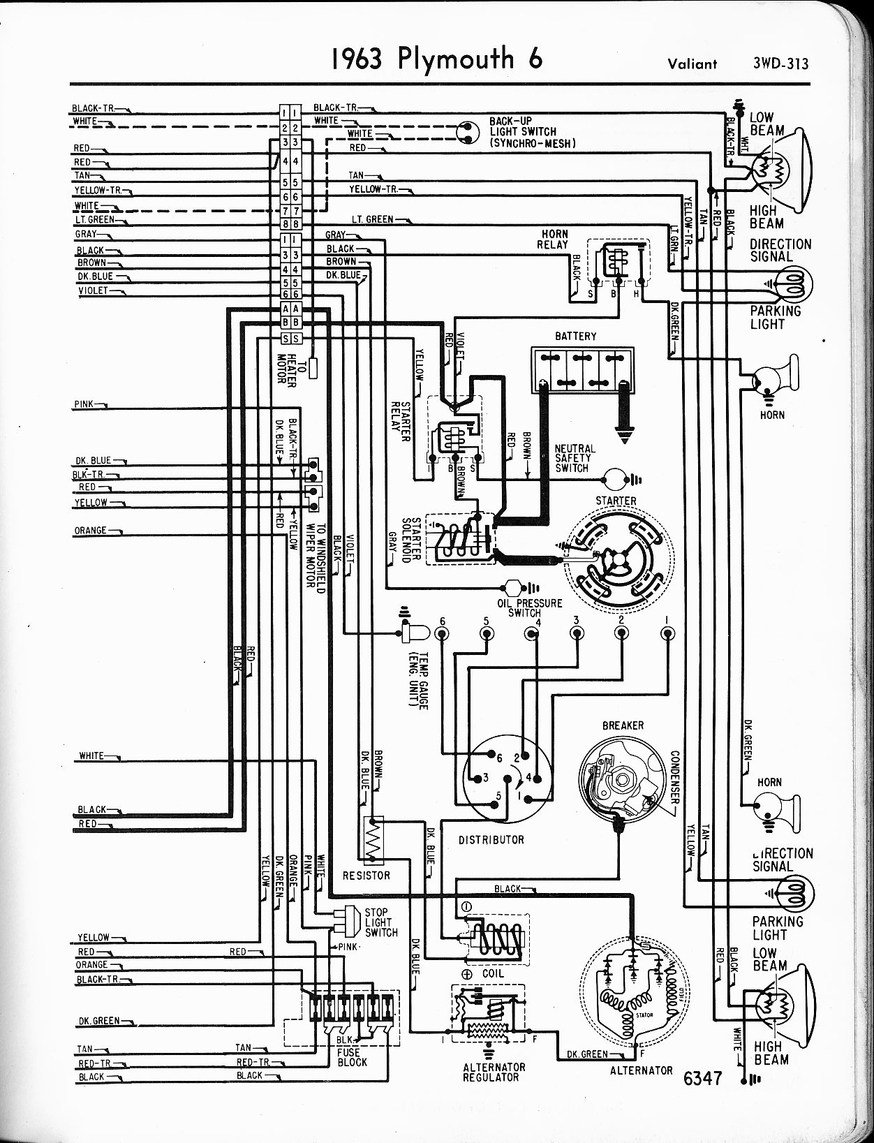 1956 chevrolet bel air wiring diagram