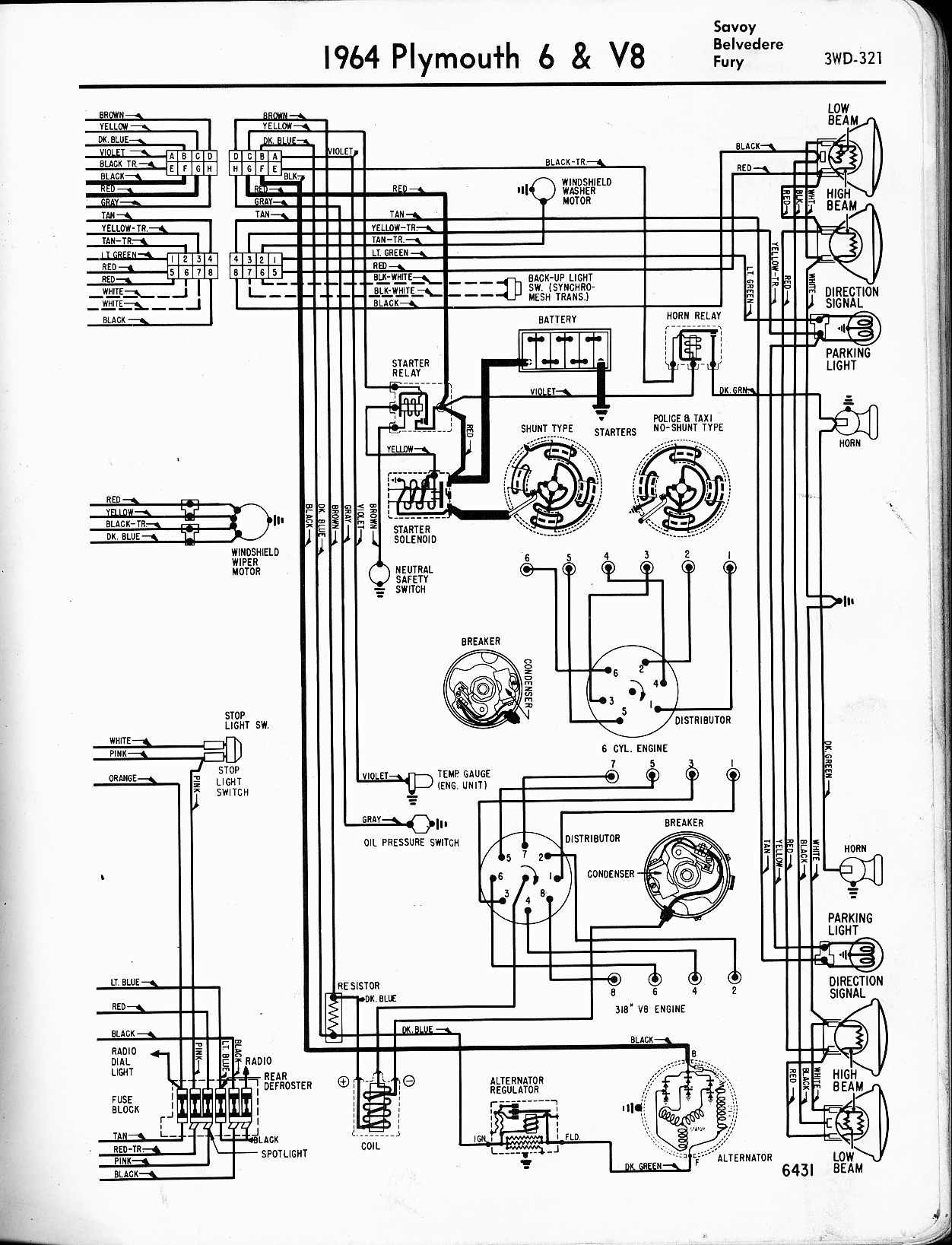 Plymouth Valiant Wiring Diagram