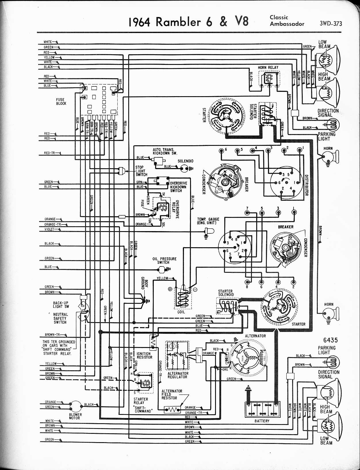 1960 Rambler American Wiring Diagrams Schematic Diagram For Edsel V8 All Models 64 Residential Electrical Symbols U2022 Classic Station Wagon