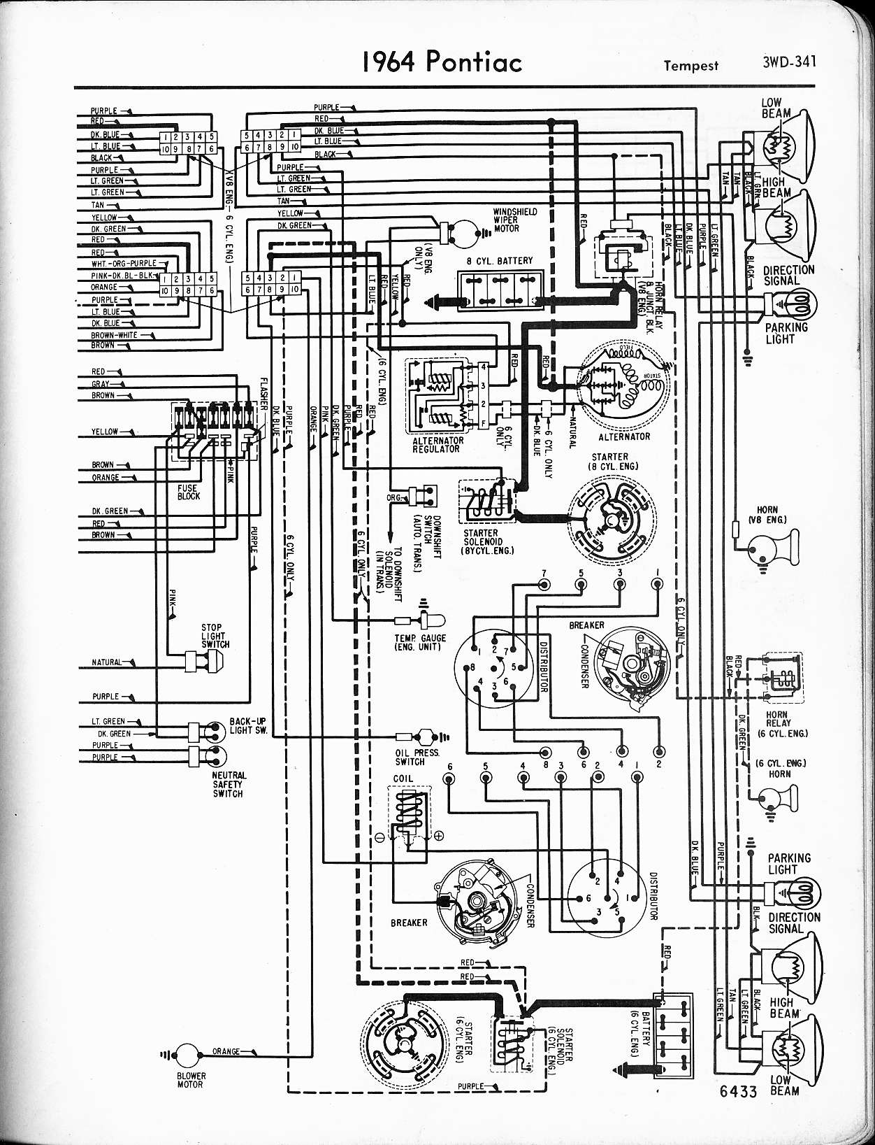 MWire5765-341  Gto Engine Wiring Diagram on 64 gto automatic transmission, 64 gto engine, 64 buick wiring diagrams,