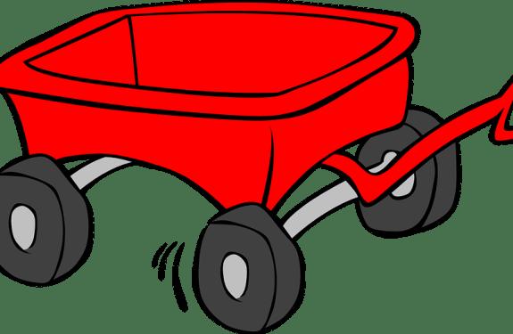 cartoon figure of a red wagon