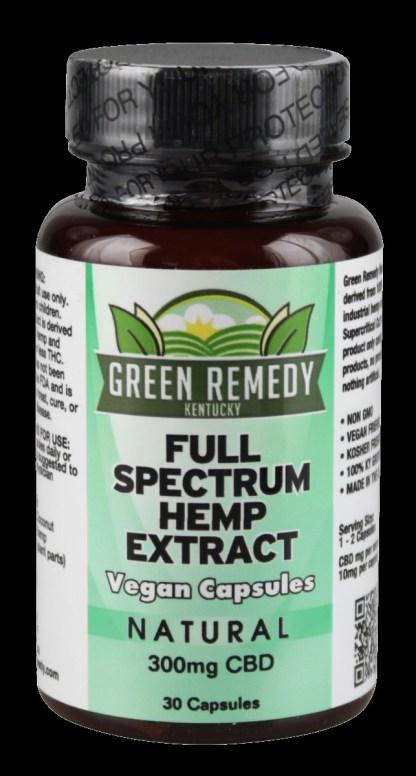 Green Remedy Full Spectrum Hemp Extract Capsules 300 mg CBD