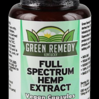 Green Remedy Full Spectrum Hemp Extract Capsules 300 mg CBD