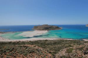 Oversiktsbilete over Balos strand og lagune