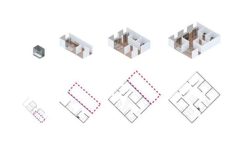 Axonometric View of Individual Apartments