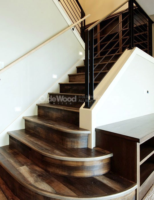Reclaimed Wood Stair Parts Reclaimed Stair Treads Olde Wood   Wood Caps For Stairs   Carpet   Hardwood   Red Oak   Hardwood Flooring   Reclaimed Wood