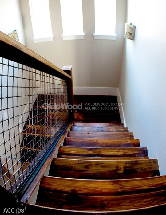 Reclaimed Wood Stair Parts Reclaimed Stair Treads Olde Wood | Reclaimed Wood Stairs For Sale | Stair Railing | Wooden | Staircase Makeover | Handrail | Van Gieson