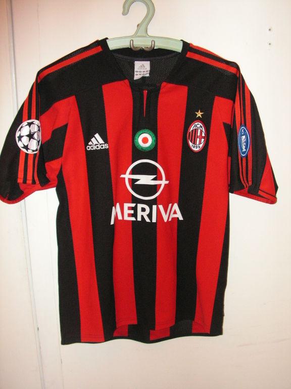 AC Milan Home Maglia Di Calcio 2003 2004 Sponsored By