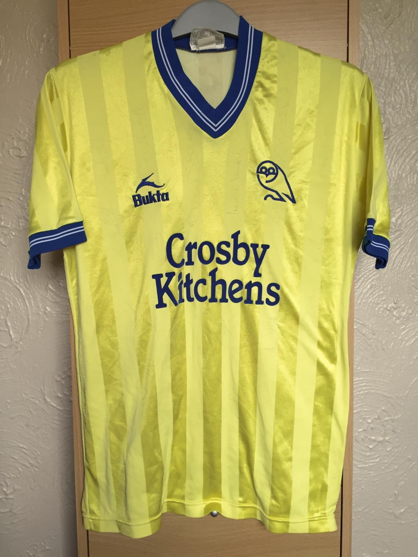 Sheffield Wednesday Away Football Shirt 1983 1984