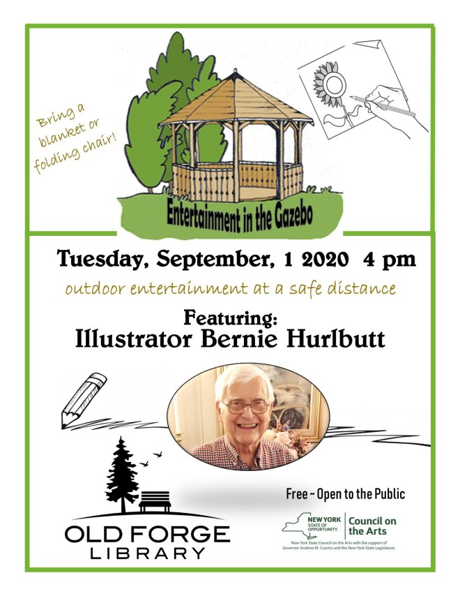 Entertainment in the Gazebo: Illustrator Bernie Hurlbut