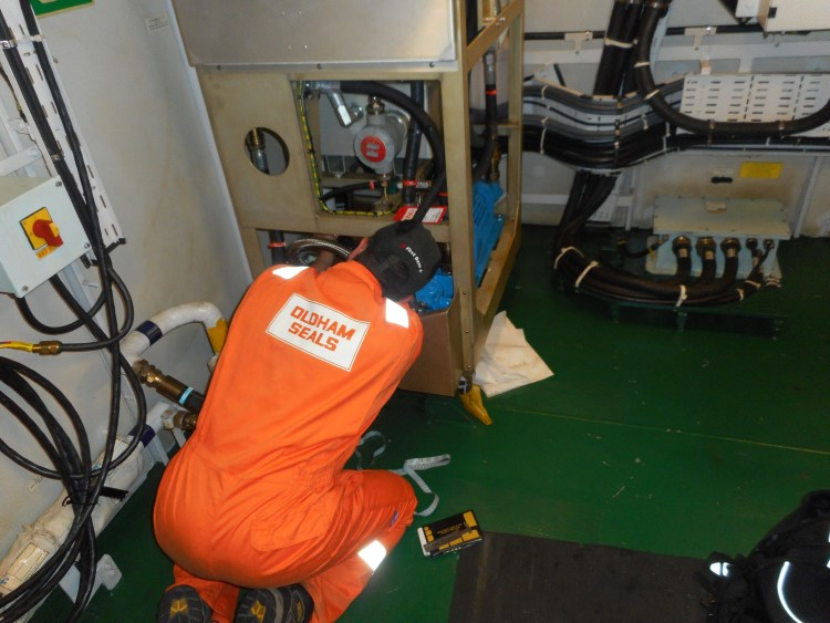Jetrac Engineer Surveying onboard