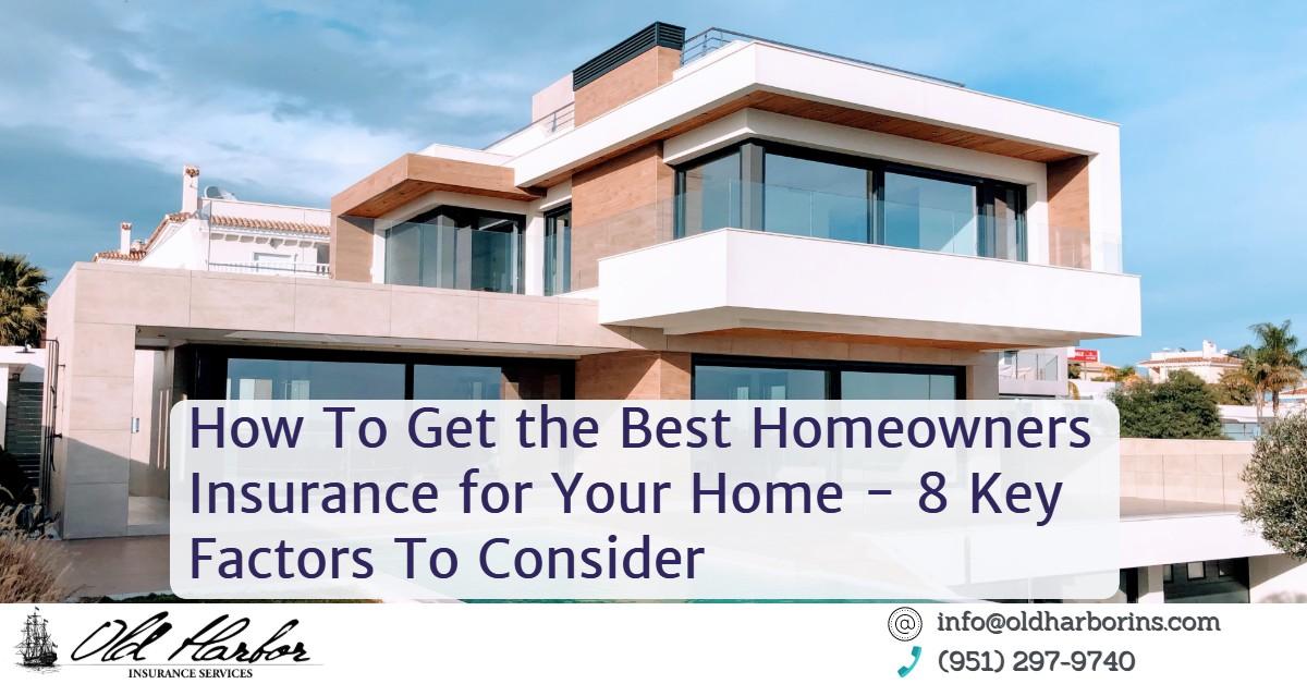 Homeowners Insurance Factors
