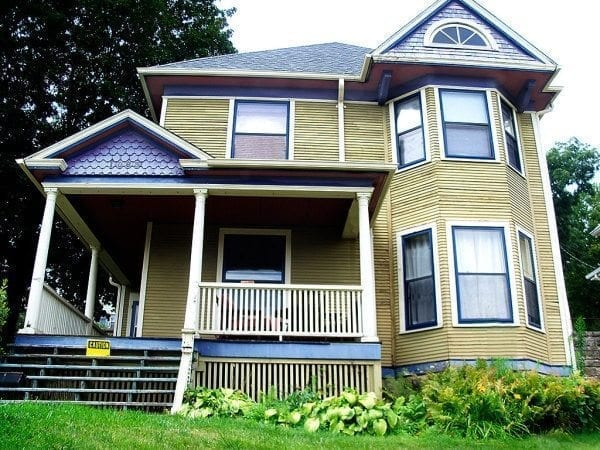 Exterior Paint Colors   Consulting for Old Houses   Sample Colors Before painting  Needs color placement corrections badly  New Victorian exterior  paint color scheme