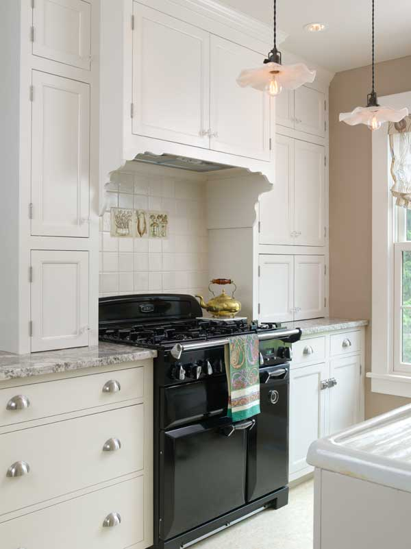 An Elegant White Kitchen In A Colonial Revival House