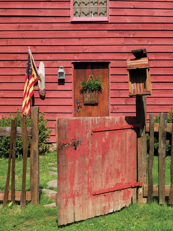 Folk Art in a Reproduction Saltbox   Restoration   Design for the     The Saltbox house was built by the homeowner and his father between 2009  and 2011