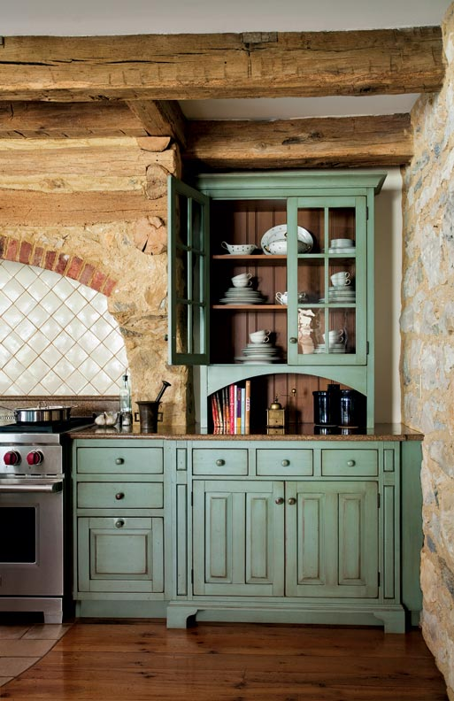 Primitive Colonial-Inspired Kitchen - Restoration & Design ... on Rustic:1Gdhjdx6F3G= Farmhouse Kitchen  id=94261