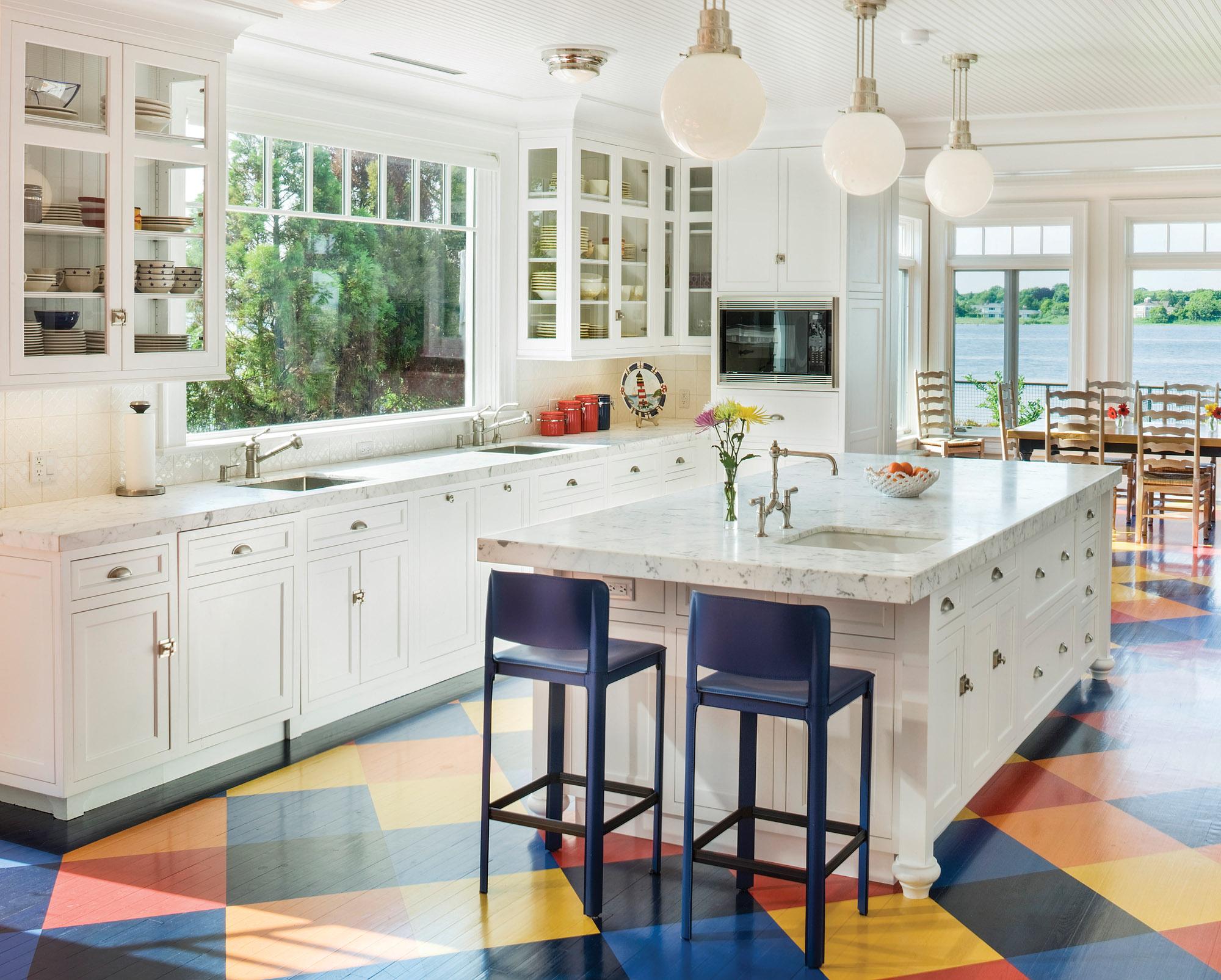 Colorful Kitchen Floor - Old House Journal Magazine on Kitchen  id=45975