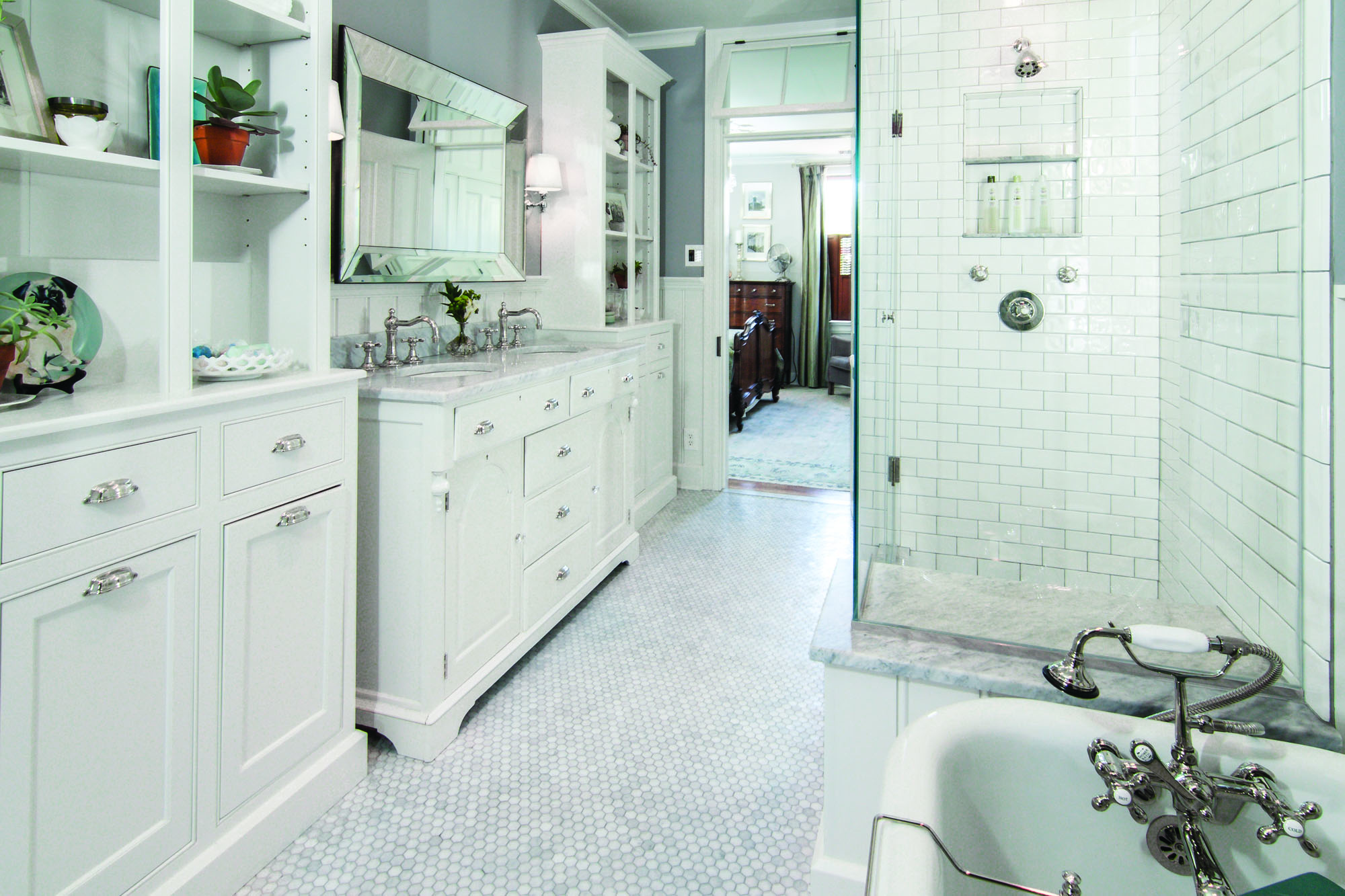 designing a timeless bath old house