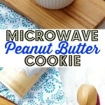 Peanut Butter Cookie Microwave Mug Cake