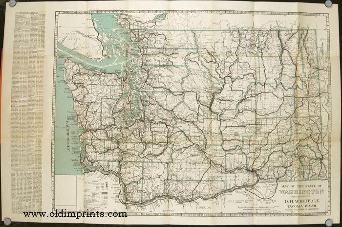 Map of State of Washington   WASHINGTON STATE Map of State of Washington