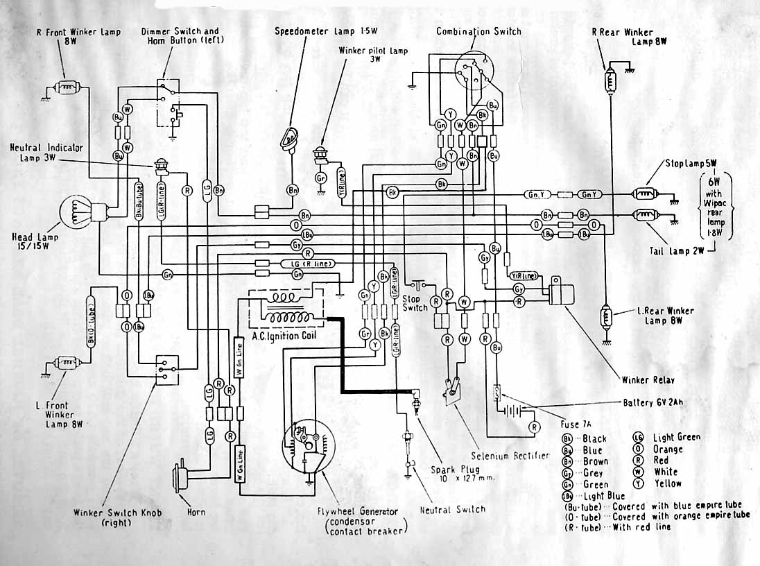Simple Wiring Diagram 1975 Honda Cb360 Cb400f Cb200 Contemporary 74 In Color Collection 1974 Cool