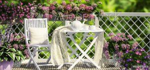 OMGC Porch With Flowers | Old Metairie Garden Club