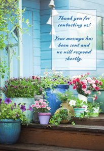 Summer potted flowers and garden shed | Old Metairie Garden Club