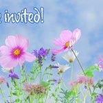 Flower Invitation   Old Metairie Garden Club