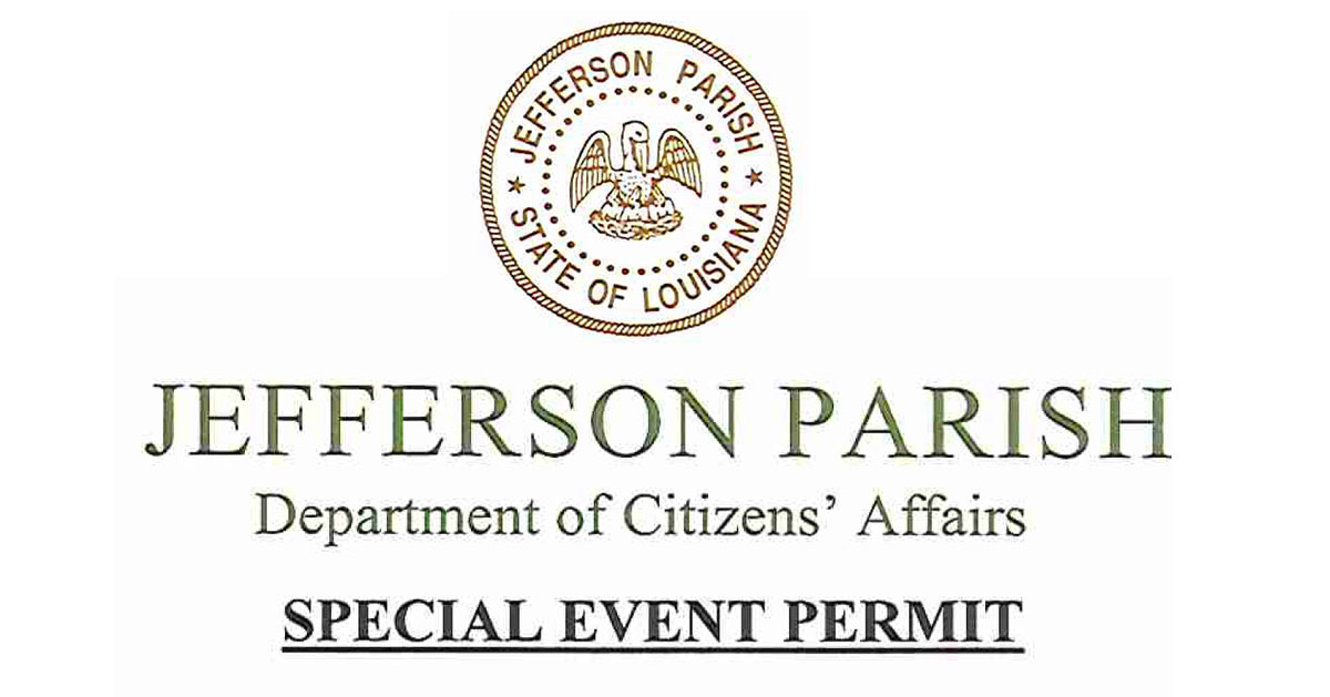 JP Permit   Old Metairie Garden Club