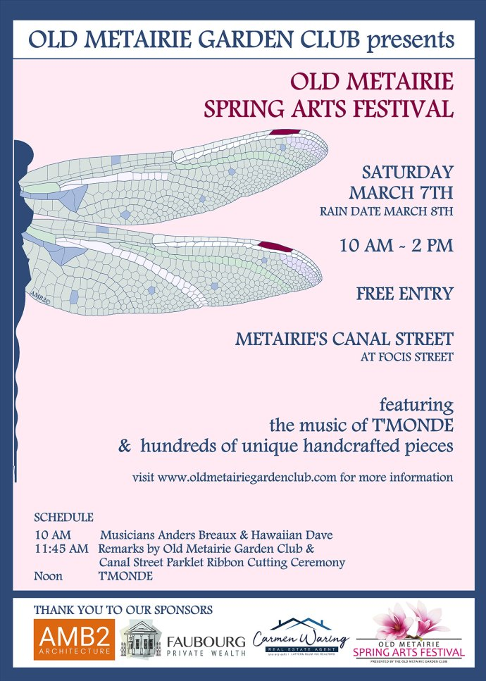 2020 Old Metairie Spring Arts Festival | Old Metairie Garden Club