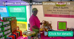 armers Arts Metairie Market August 18 | Old Metairie Garden Club