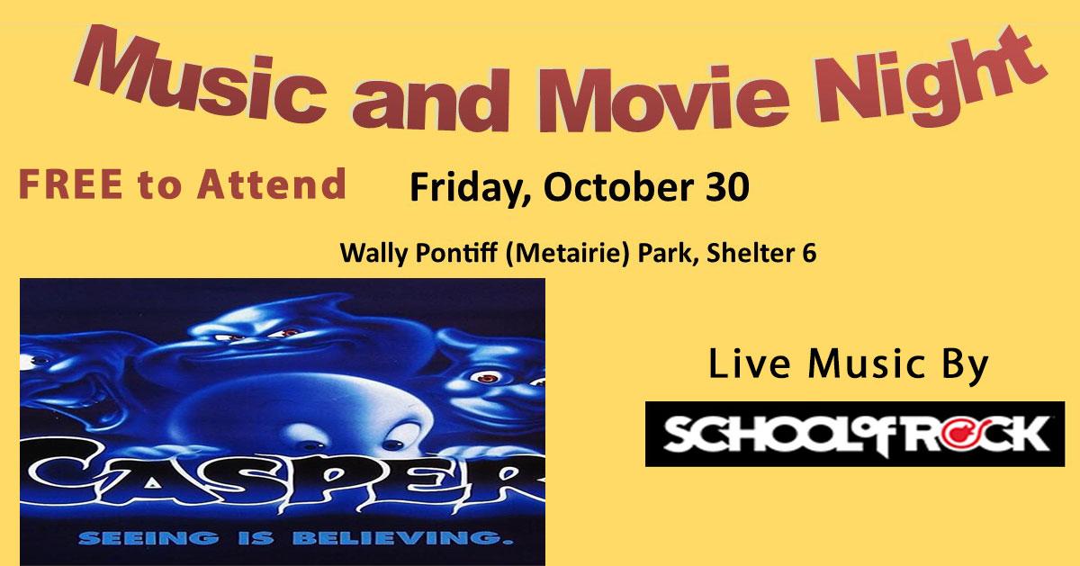 Music Movie Oct-30-2020 | Old Metairie Garden Club