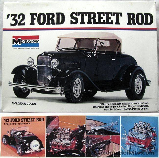 Monogram 1 8 1932 Ford Street Rod Roadster Big Deuce Or Classic Highboy 2602