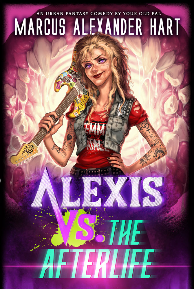 """""""Alexis vs. the Afterlife"""" cover art by Flo Minowa"""