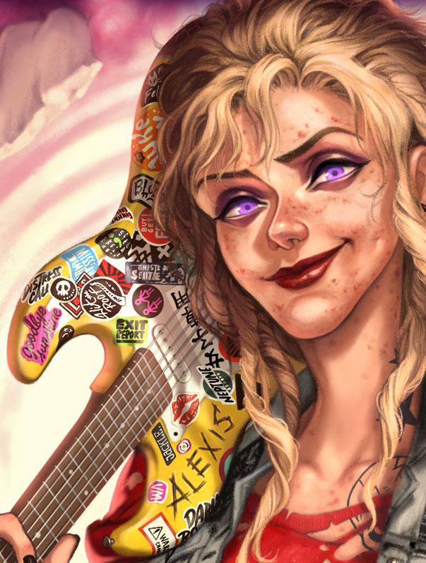 Alexis McRiott guitar detail