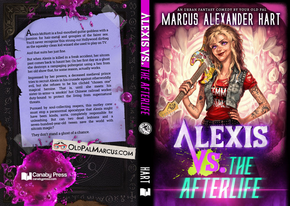 """Paperback cover for """"Alexis vs. the Afterlife."""""""