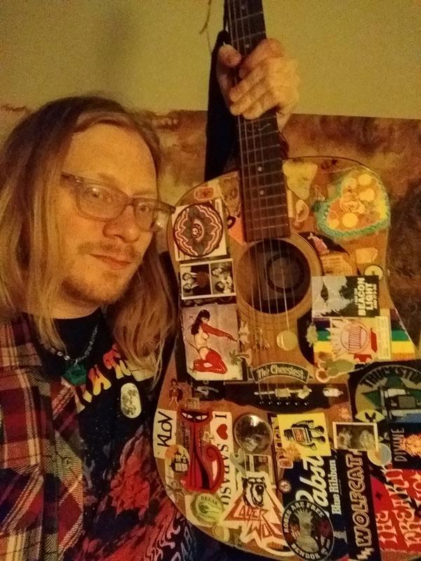 Timb and his guitar